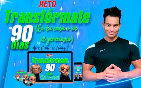 Curso online de Reto 90 días en tu casa o en el gimnasio